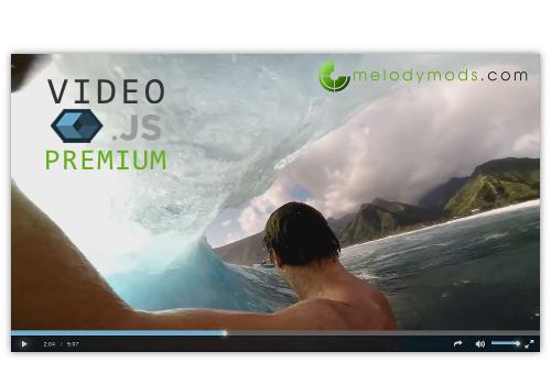 Video.js premium player plugin